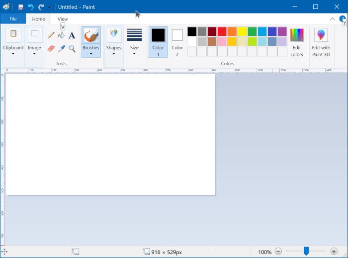 Microsoft Paint Software